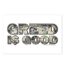 Wall Street/Greed is Good Postcards (Package of 8)