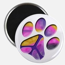 Peaceful Paw Print Magnet