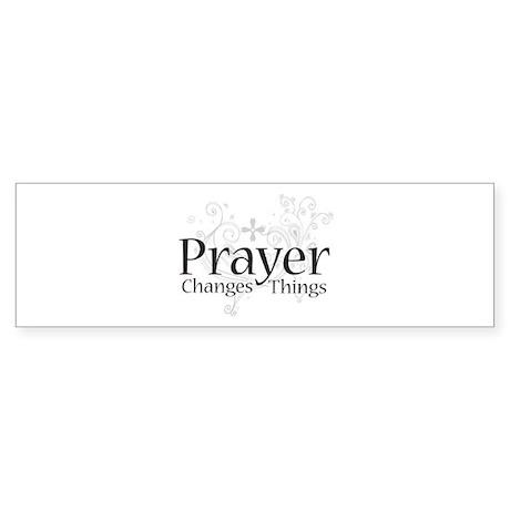 Prayer Changes Things Bumper Sticker