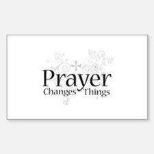 Prayer Changes Things Rectangle Stickers