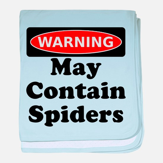 May Contain Spiders baby blanket