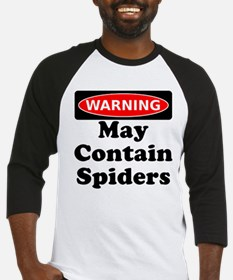 May Contain Spiders Baseball Jersey