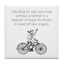 Helmetless Hope White Tile Coaster