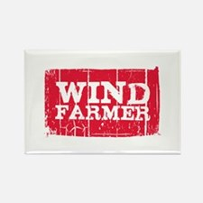 Wind Farmer Rectangle Magnet