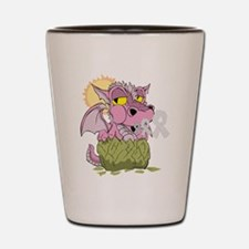 Breast Cancer Baby Dragon Shot Glass