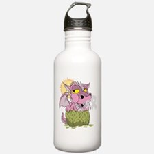 Breast Cancer Baby Dragon Water Bottle