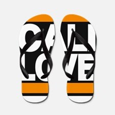 cali love orange Flip Flops