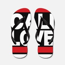 cali love red Flip Flops