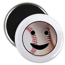 "Baseball Happy Face 2.25"" Magnet (10 pack)"