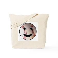 Baseball Happy Face Tote Bag