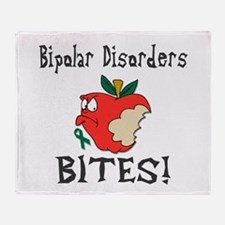 Bipolar Disorders Bites Throw Blanket
