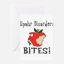 Bipolar Disorders Bites Greeting Card