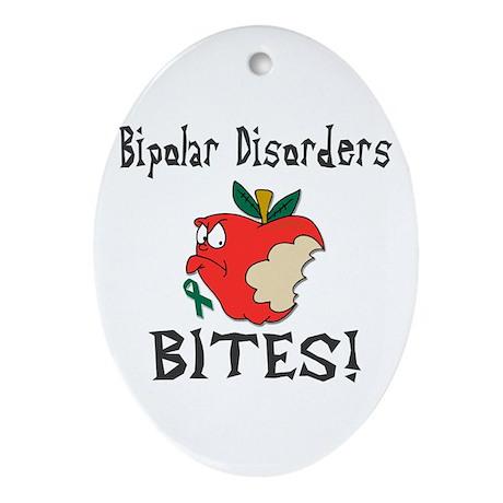 Bipolar Disorders Bites Ornament (Oval)