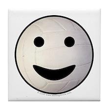 Volleyball Smiley Face Tile Coaster