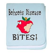 Behcets Disease Bites baby blanket