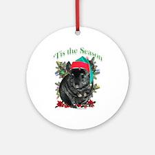 Chin (blk tov) 'Tis Ornament (Round)