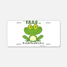F.R.O.G. Fully, Relying,On,God Aluminum License Pl