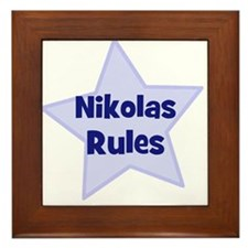 Nikolas Rules Framed Tile