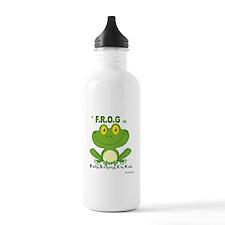 F.R.O.G. Fully, Relying,On,God Water Bottle