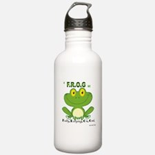 F.R.O.G. Fully, Relying,On,God Water Bottle