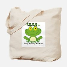 F.R.O.G. Fully, Relying,On,God Tote Bag