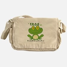 F.R.O.G. Fully, Relying,On,God Messenger Bag