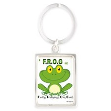 F.R.O.G. Fully, Relying,On,God Keychains