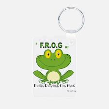 F.R.O.G. Fully, Relying,On,God Keychains