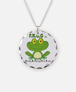 F.R.O.G. Fully, Relying,On,God Necklace