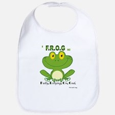 F.R.O.G. Fully, Relying,On,God Bib