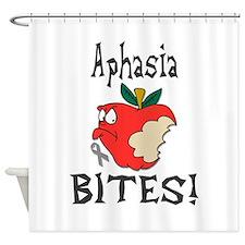 Aphasia Bites Shower Curtain