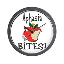 Aphasia Bites Wall Clock