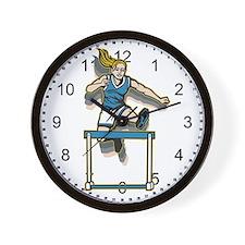 Women's Hurdles Wall Clock