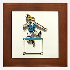 Women's Hurdles Framed Tile