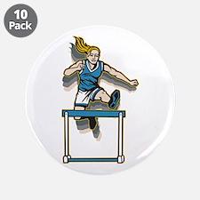 "Women's Hurdles 3.5"" Button (10 pack)"