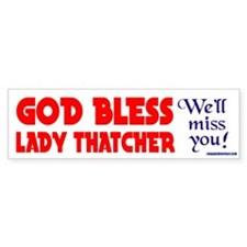 LADYTHATCHER4 Bumper Car Sticker
