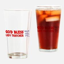 LADYTHATCHER4 Drinking Glass