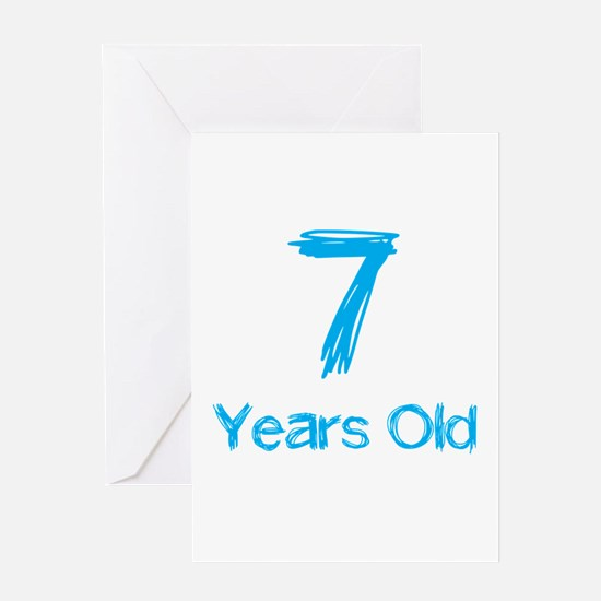 7 Years Old Greeting Card