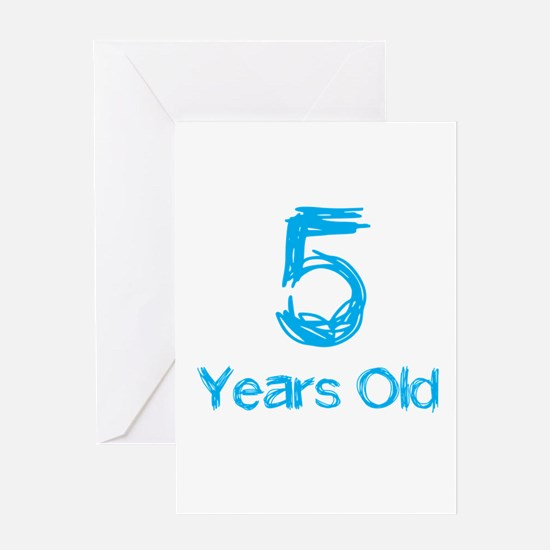 5 Years Old Greeting Card