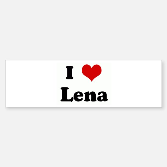 I Love Lena Bumper Car Car Sticker