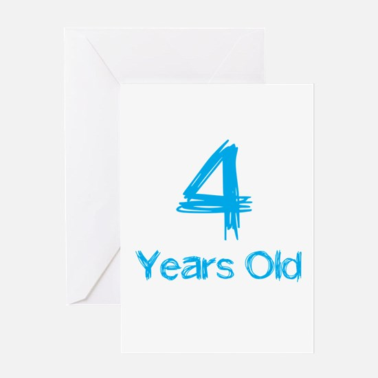 4 Years Old Greeting Card