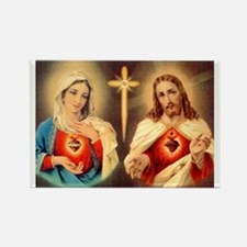 sacred-hearts-of-jesus-and-mary Rectangle Magnet