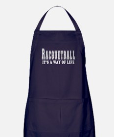 Racquetball It's A Way Of Life Apron (dark)