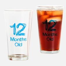 12 Months Old Baby Milestones Drinking Glass