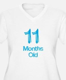 11 Months Old Baby Milestones Plus Size T-Shirt