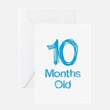 10 Months Old Baby Milestones Greeting Card