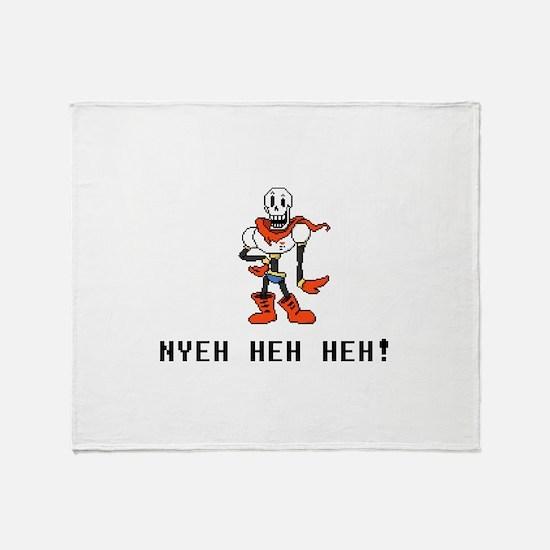 Papyrus Nyeh Heh Heh - Blk Throw Blanket