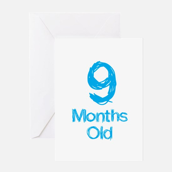 9 Months Old Baby Milestone Greeting Card