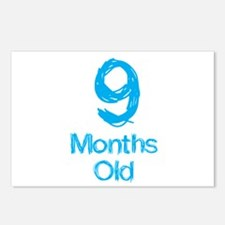 9 Months Old Baby Milestone Postcards (Package of