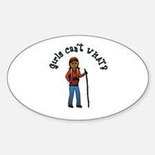 Girl Hiker Decal